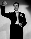 Don Ameche Posed in Black Coat Photo by  Movie Star News
