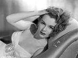 Eva Gabor on a Tube Dress Lying Photo by  Movie Star News