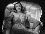 Ella Raines Seated in Classic Photo by  Movie Star News