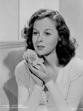 Susan Hayward Posed with a Rose Photo by  Movie Star News