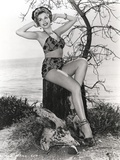 Ann Miller sitting in Lingerie Photo by  Movie Star News