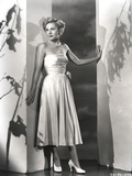 Joan Fontaine in Dress Leaning Photo by  Movie Star News