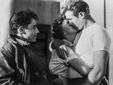 James Dean Kissing in Classic Photo by Floyd Mccarty