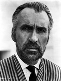Christopher Lee in Stripe Suit Photo by  Movie Star News