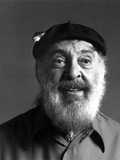 Zero Mostel in Suit With Cap Photo by  Movie Star News