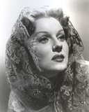 Rhonda Fleming wearing a Veil Photo by  Movie Star News