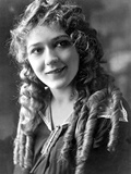 Mary Pickford on a Curling Hair Photo by  Movie Star News
