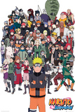 Naruto Shippuden- Collection Of Characters Kunstdrucke
