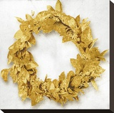 Golden Wreath I Stretched Canvas Print by Kate Bennett