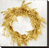 Golden Wreath II Stretched Canvas Print by Kate Bennett
