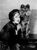 Clara Bow Posed with Dog Photo by ER Richee