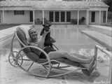 Al Jolson at the Pool Photo by  Movie Star News