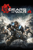 Gears Of War- 4 Game Cover Reprodukcje