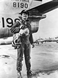 John Wayne by Plane Photo by  Movie Star News