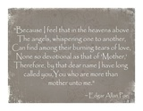 More Than Mother, Edgar Allan Poe Prints by Veruca Salt
