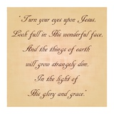 Turn Your Eyes Upon Jesus Print by Veruca Salt