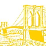 Yellow Brooklyn Bridge Prints by Veruca Salt