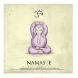 Elephant Yoga, Namaste Pose Posters by Veruca Salt