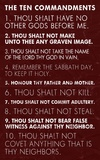 Ten Commandments - Red Grunge Prints by Veruca Salt