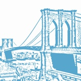 Blue Brooklyn Bridge Prints by Veruca Salt