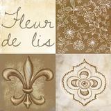 Fleur de Lis Square Poster by Veruca Salt