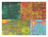 Colorful Leaf Imprint II Art by Elena Ray