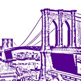 Purple Brooklyn Bridge Art by Veruca Salt