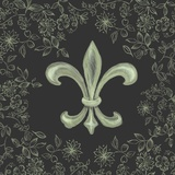 Fleur de Lis - Black Prints by Veruca Salt