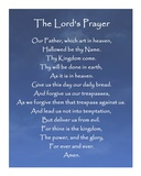 The Lord's Prayer - Blue Sky Poster by Veruca Salt
