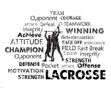 Lacrosse Text Art by Veruca Salt