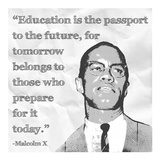 Education is the Passport to the Future Affiches par Veruca Salt