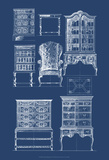 Furniture Blueprint II Prints by  Vision Studio