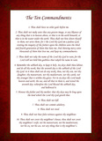 The Ten Commandments - Red Posters by Veruca Salt