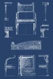 Furniture Blueprint IV Prints by  Vision Studio