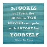 Set Goals square Posters by Veruca Salt