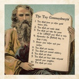 Tablets of the Ten Commandments Poster by Veruca Salt