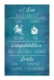 Leo Zodiac Sign Posters by Veruca Salt
