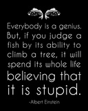 Einstein Genius Quote Prints by Veruca Salt