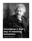Coincidence Einstein Quote Poster by Veruca Salt