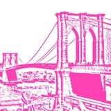 Pink Brooklyn Bridge Prints by Veruca Salt