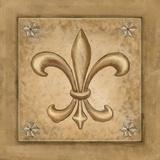Fleur de Lis - Gold Posters by Veruca Salt