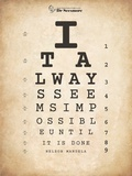 Nelson Mandela Eye Chart II Prints by Veruca Salt