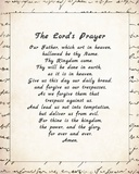 The Lord's Prayer - Script Prints by Veruca Salt