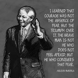 He Who Conquers - Nelson Mandela Quote Reprodukcje autor Veruca Salt