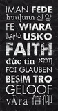 Faith in Different Languages Print by Veruca Salt