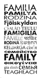 Family Languages Art by Veruca Salt