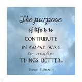 The Purpose of Life Square Poster by Veruca Salt