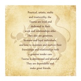 Taurus Character Traits Print by Veruca Salt