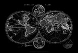 World Map Blueprint Prints by  Studio W