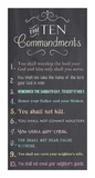 The Ten Commandments - Chalkboard Poster by Veruca Salt